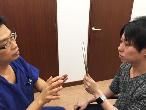 聖心美容クリニック 経結膜下脱脂法のカウンセリング